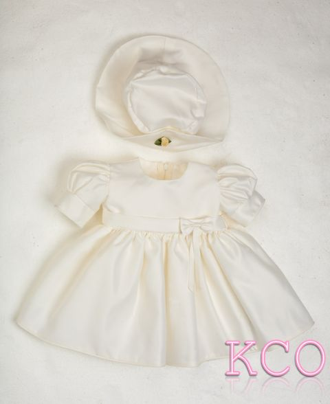 Baby Bow Dress Ivory ~ Baby Girls Dress